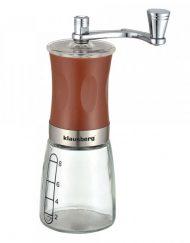 Механична мелничка за кафе Klausberg KB 7176, 8 чаши, Регулиране на големина, Стъкло, Кафяв