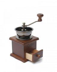 Ръчна мелничка за кафе OEM 2613-9, Метал и дърво, Кафяв
