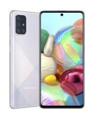Smartphone, Samsung GALAXY A71, DualSIM 6.7'', Arm Octa (2.2G), 6GB RAM, 128GB Storage, Android10, Silver(SM-A715FZSUBGL)