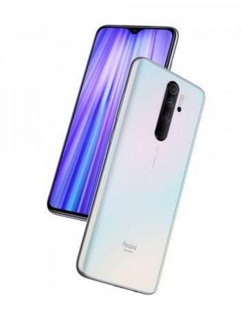 Smartphone, Xiaomi Redmi Note 8 Pro, DS, 6.53'', Arm Octa (2.05G), 6GB RAM, 128GB Storage, Android 9, White (MZB8341EU)
