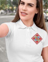 Дамска тениска тип лакоста с шевици 19