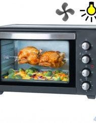Готварска печка First Austria FA-5046-1, 45 литра, 2000W, Конвекция, Шиш за печене, Таймер 60 мин, Черен