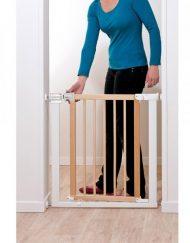 Safety 1ST Универсална преграда за врата от метал и дърво 72 см. БЯЛ/БЕЖОВ ST -24184316