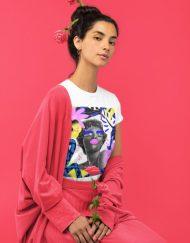 Дамска тениска - Blue and Pink