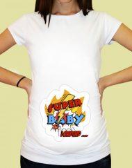Дамска тениска с щампа за бременни - 69