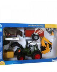 BRUDER Комплект трактор с товарач, ремарке и крава FENDT 209 S 01041