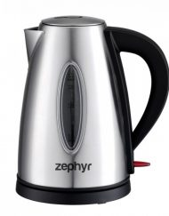 Електрическа кана ZEPHYR ZP 1230 SB, 1.7 л, 2200W, Стоманен корпус, Сребрист