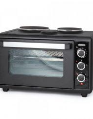 Готварска печка с два котлона TERMOMAX TC46BK, 46 литра, Двойно стъкло, Фурна: 1500W, Черен