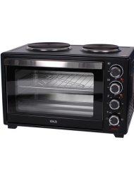 Готварска печка с котлони MUHLER MN-4809, 48 L, 3600W, Вентилатор, Таймер, Черен