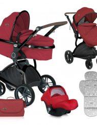 Lorelli Комбинирана количка LUMINA SET с кош за новородено RED