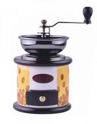 Механична мелничка за кафе Kinghoff KH 4144, Регулиране на големина, Керамика и дърво