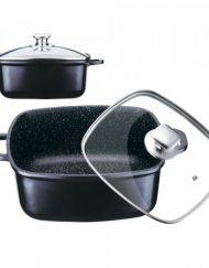 Ростер от висококачествен лят алуминий Peterhof PH 15830-28, 6.3 литра, покритие Granite, Черен