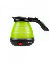 Туристическа ел. кана - сгъваема Camry CR 1265, 0.5 литра, Силиконова, 750W, Зелен/черен