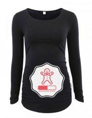 Дамска блуза с щампа за бременни - 36