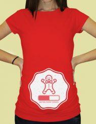 Дамска тениска с щампа за бременни - 72