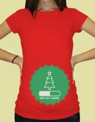 Дамска тениска с щампа за бременни - 73
