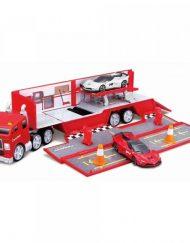 MAISTO FRESH Камион гараж Ferrari Evolution Hauler с 2 коли 12388