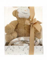 Подаръчен комплект за бебе БЕЖОВ 75156С