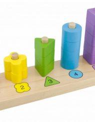Thinkle Stars Дървена играчка за нанизване - цветове, форми и числа
